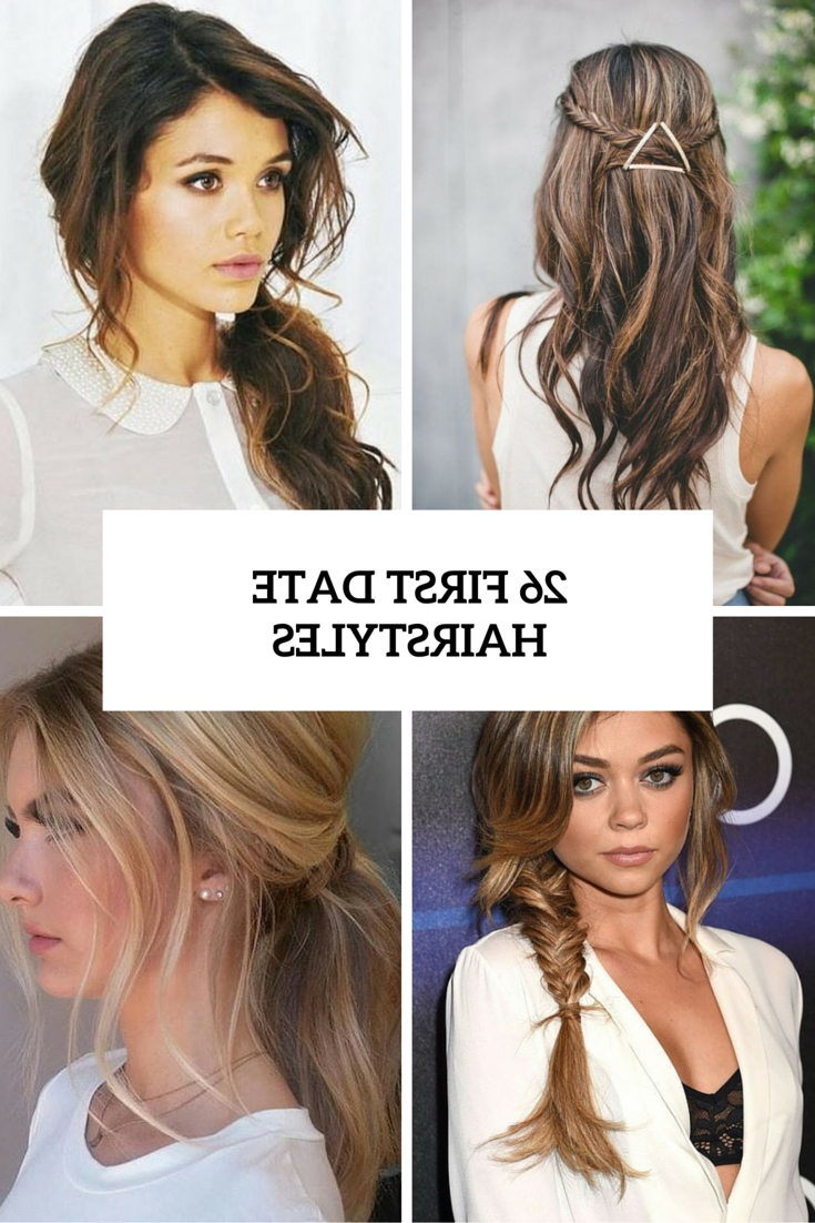 26 Cute And Easy First Date Hairstyle Ideas – Styleoholic Within Chic Updos For Long Hair (View 3 of 15)