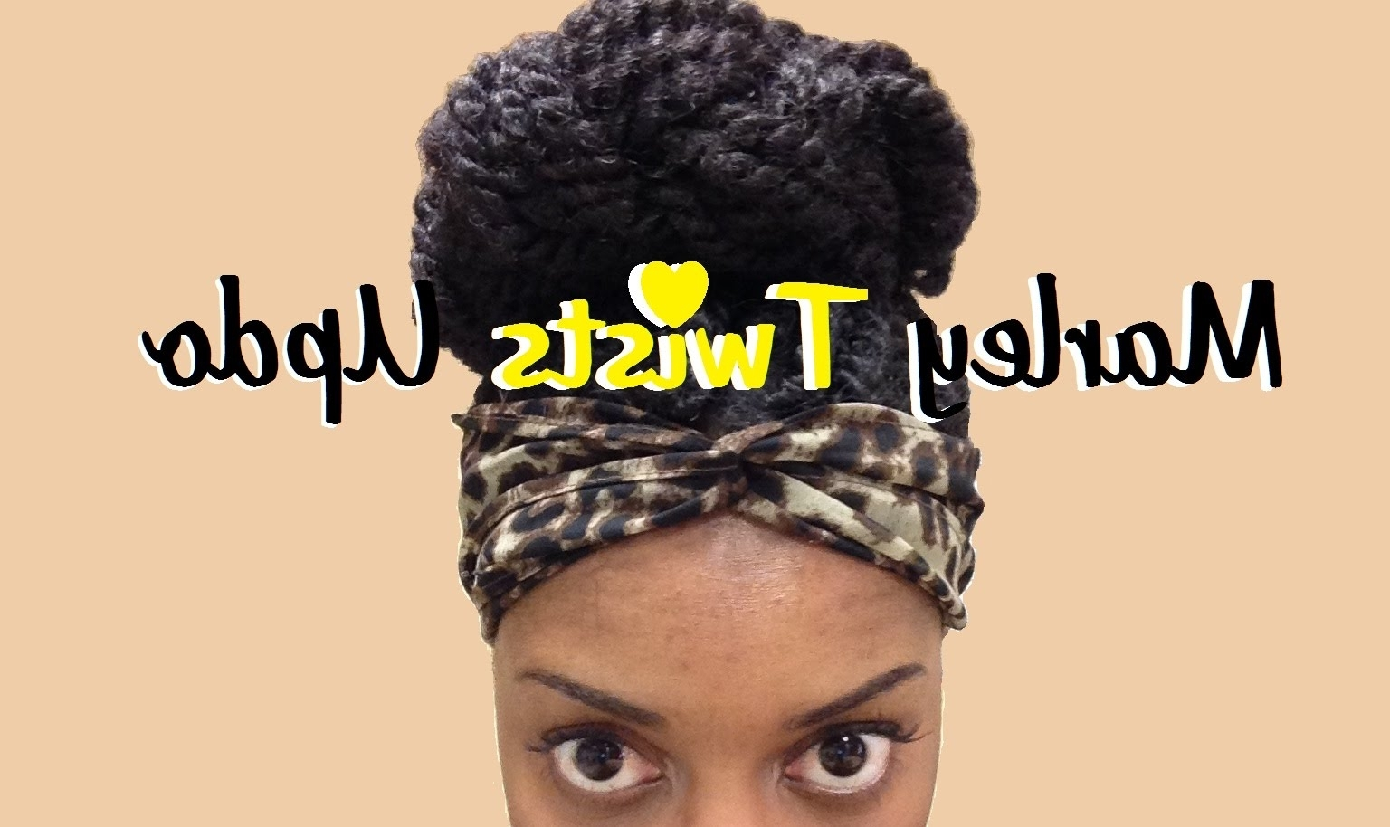 26} Marley Twists Updo – Youtube Inside Marley Twist Updo Hairstyles (View 2 of 15)