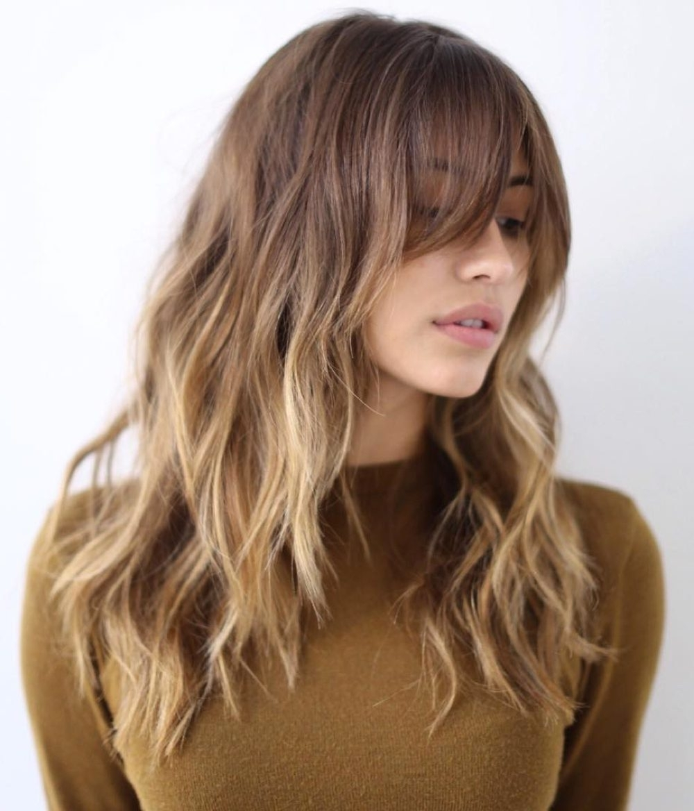 28 Popular Medium Length Hairstyles With Bangs (Updated For 2018) Intended For Updos For Medium Hair With Bangs (View 5 of 15)