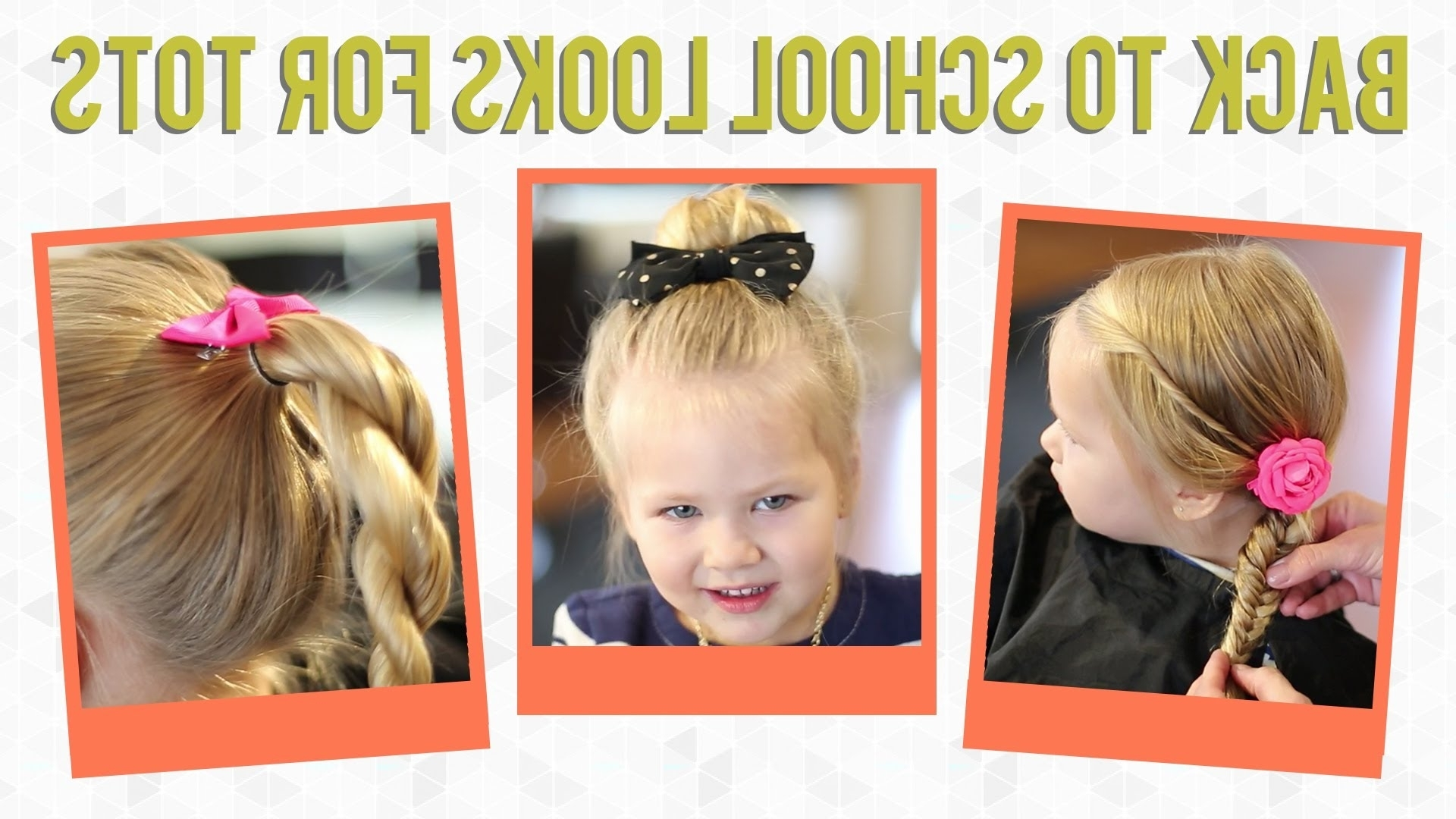 3 Easy Back To School Hairstyles For Toddlers – Youtube Throughout Easy Updo Hairstyles For Kids (View 1 of 15)