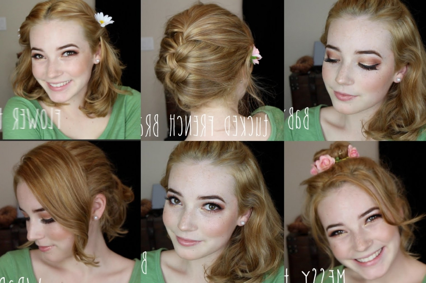 3 Easy Hairstyles For Medium Length Hair Youtube Ideas Of Quick Regarding Quick Updos For Medium Length Hair (View 3 of 15)