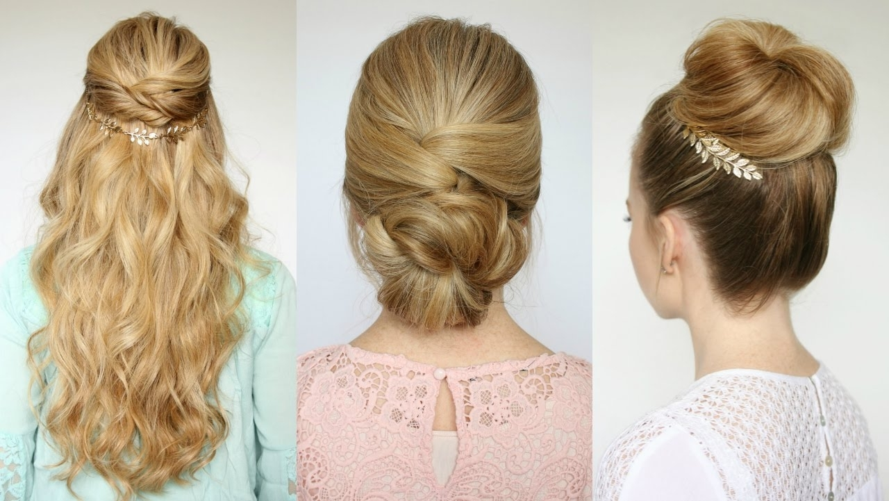 3 Easy Prom Hairstyles | Missy Sue – Youtube Intended For Long Hair Updo Hairstyles For Work (View 3 of 15)