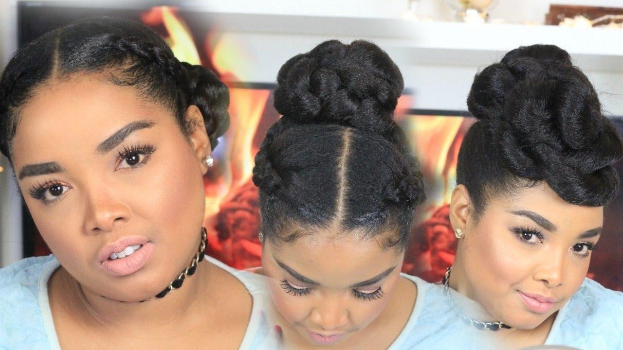 3 Protective Hair Styles | For Natural Hair | Using Kanekalon Hair Within Updo Hairstyles Using Kanekalon Hair (View 1 of 15)