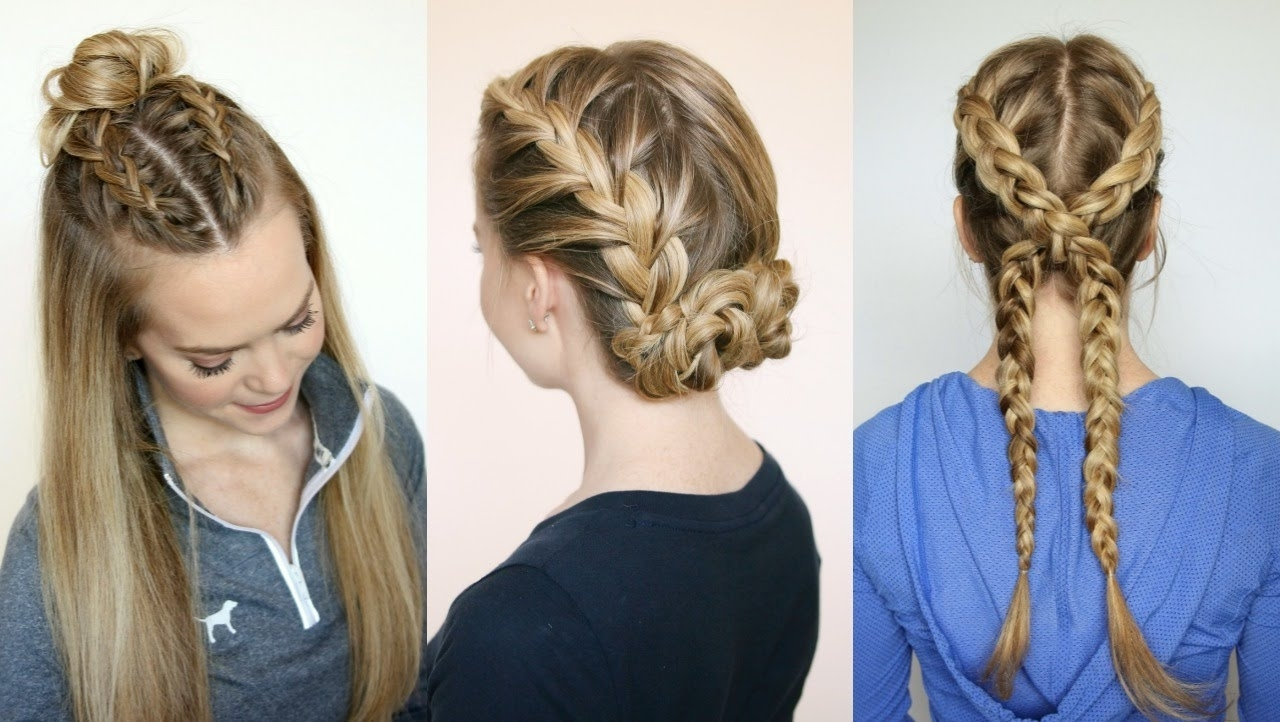 3 Sporty Hairstyles | Missy Sue – Youtube Throughout Sporty Updo Hairstyles For Short Hair (View 3 of 15)