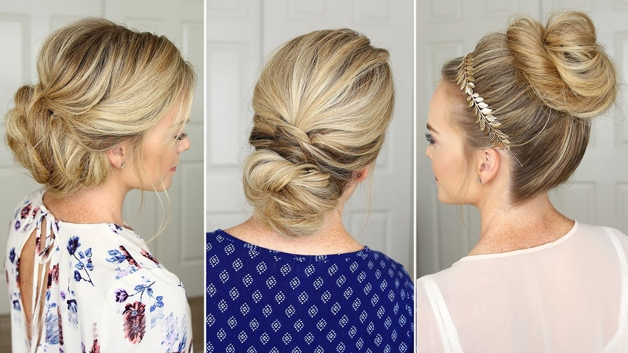 3 Stunning Updos That You Can Do On Yourself! | Hair Tutorial – Youtube With Easy Updo Hairstyles For Medium Hair To Do Yourself (View 13 of 15)