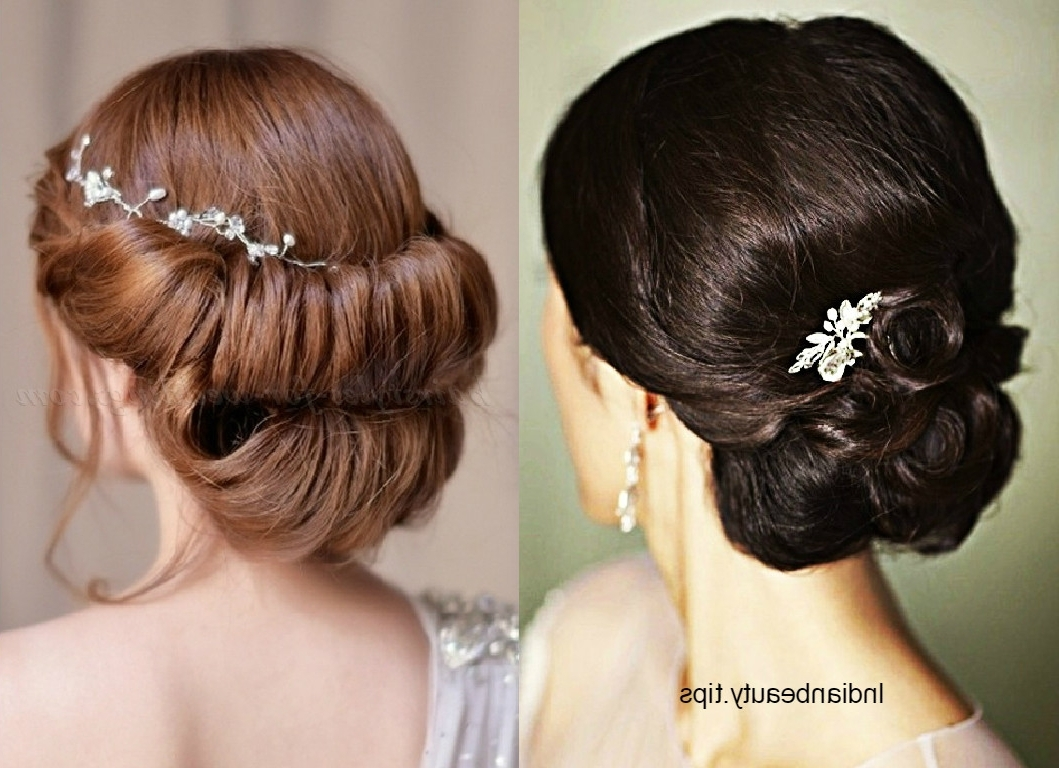 30 Elegant Bridal Updo Hairstyles – Indian Beauty Tips Throughout Bridal Bun Updo Hairstyles (View 8 of 15)