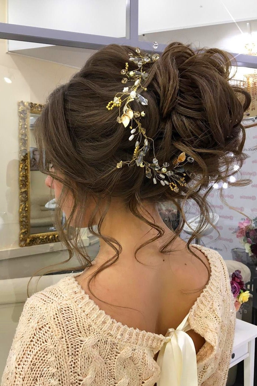 30 Eye Catching Wedding Bun Hairstyles | Wedding Bun Hairstyles Throughout Updo Hairstyles For Wedding (View 2 of 15)