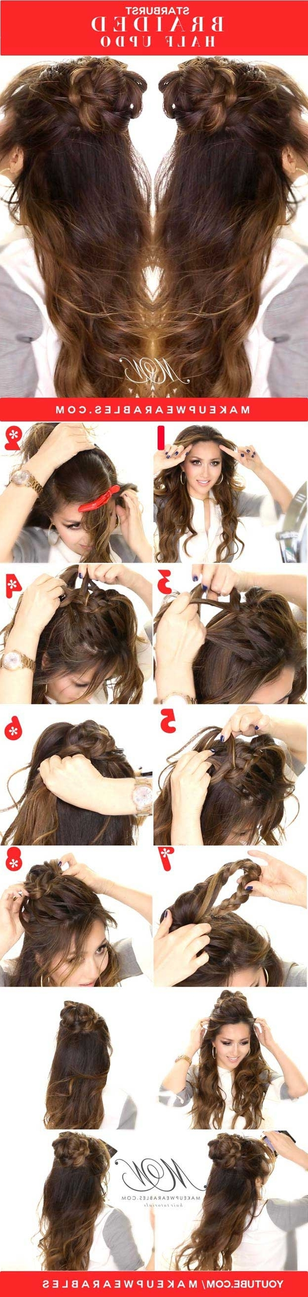 31 Amazing Half Up Half Down Hairstyles For Long Hair – The Goddess With Regard To Professional Updo Hairstyles For Long Hair (View 6 of 15)