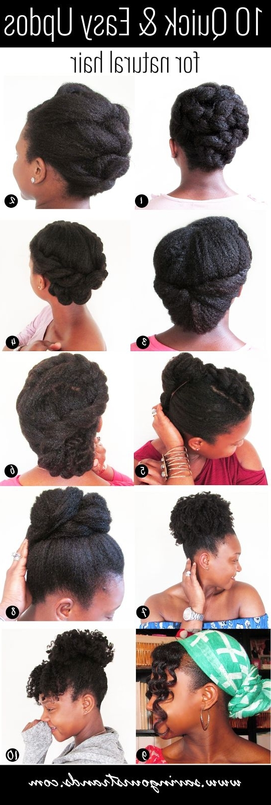 311 Best Short & Medium Natural Hair Styles Images On Pinterest Inside Quick Updos For Short Black Hair (View 5 of 15)
