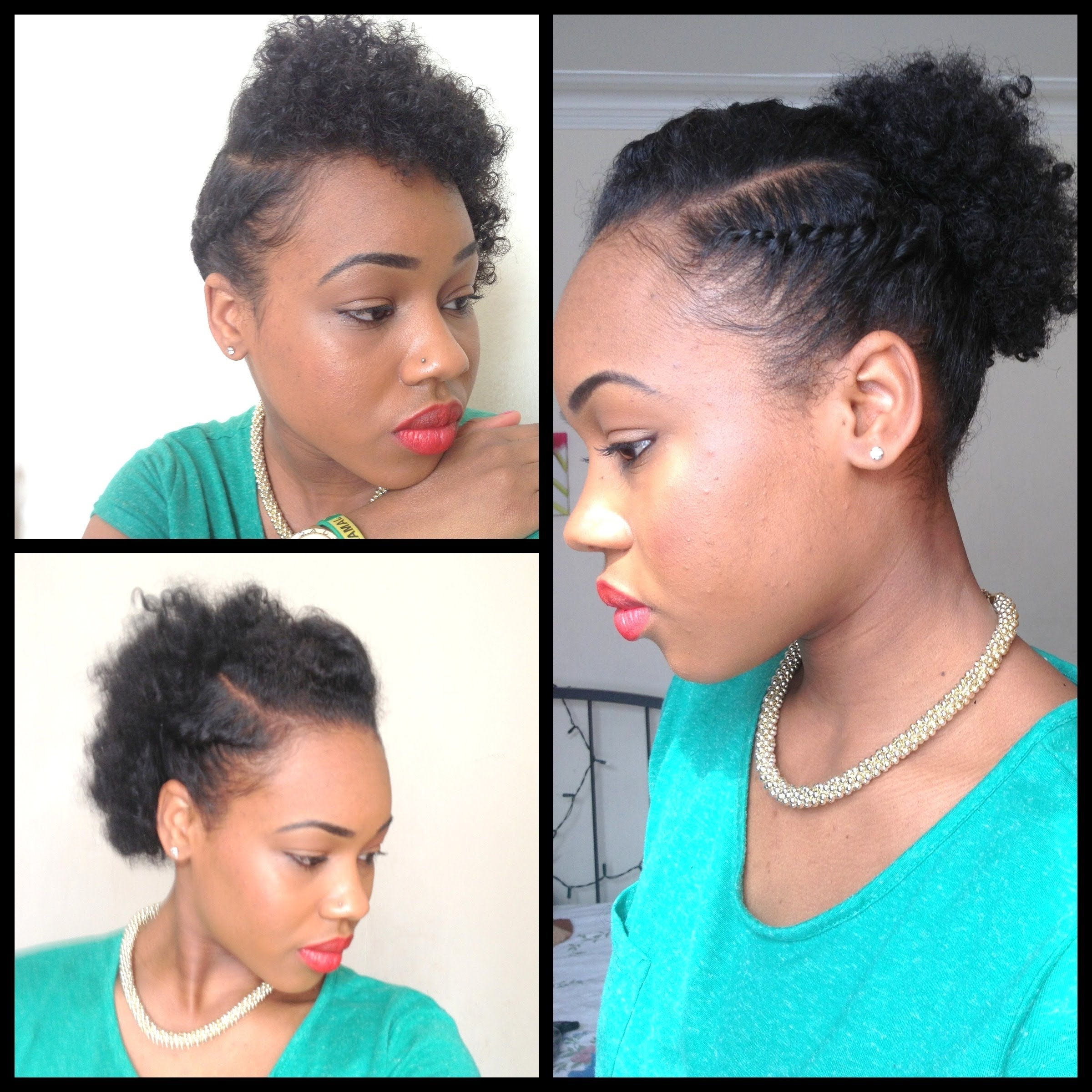 Photo Gallery Of Quick Updo Hairstyles For Natural Black