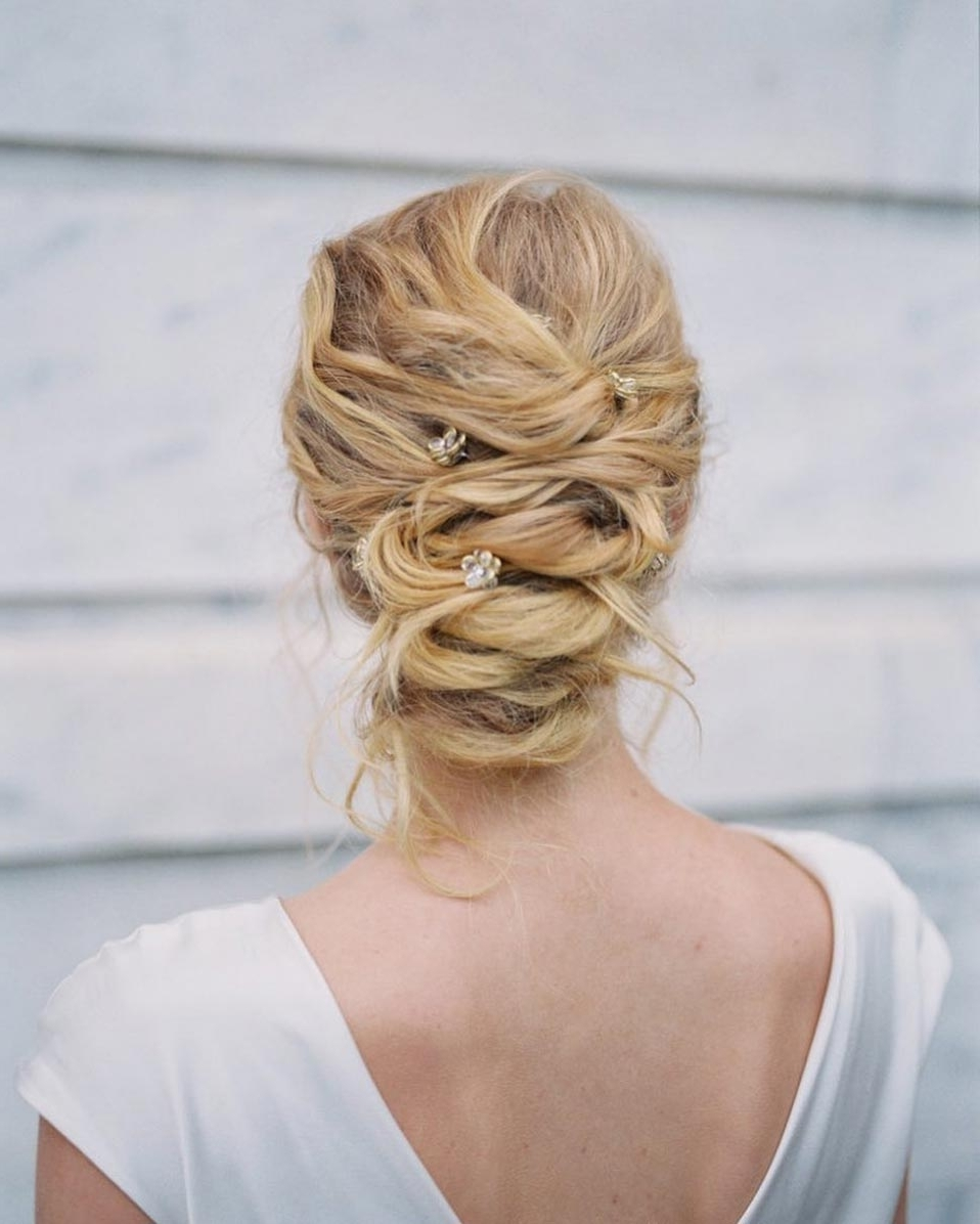 34 Loose Wedding Updos For Brides With Long Hair · Ruffled Throughout Wedding Updos For Long Hair (View 14 of 15)