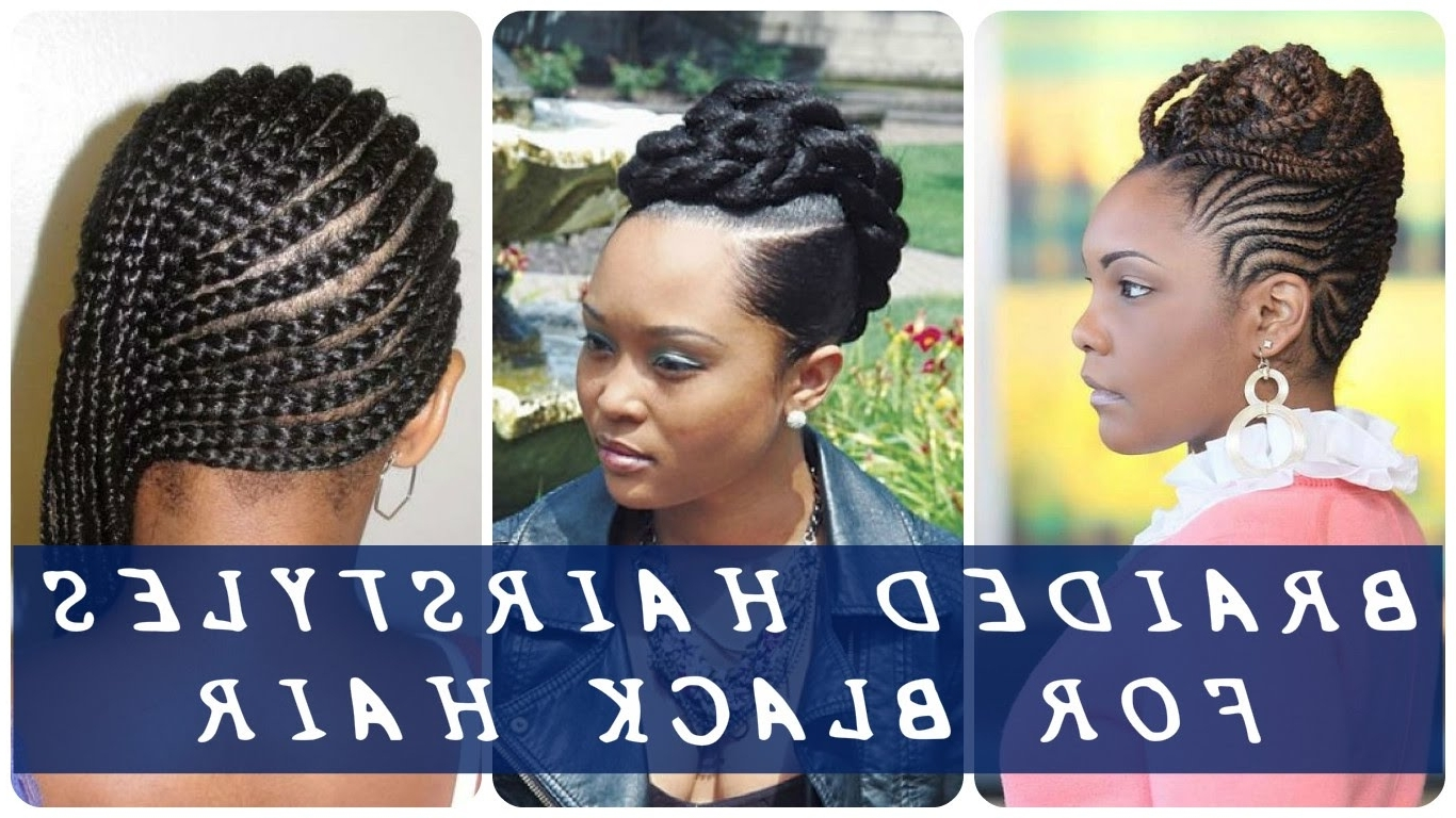 35 Best Braided Hairstyles For Black Hair – Youtube Intended For Braided Updo Hairstyles For Black Hair (View 2 of 15)