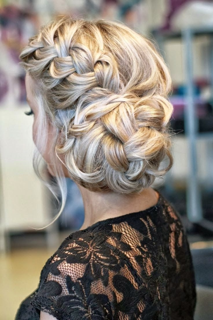 39 Elegant Updo Hairstyles For Beautiful Brides | French Braid, Updo With Updo Hairstyles With French Braid (View 2 of 15)
