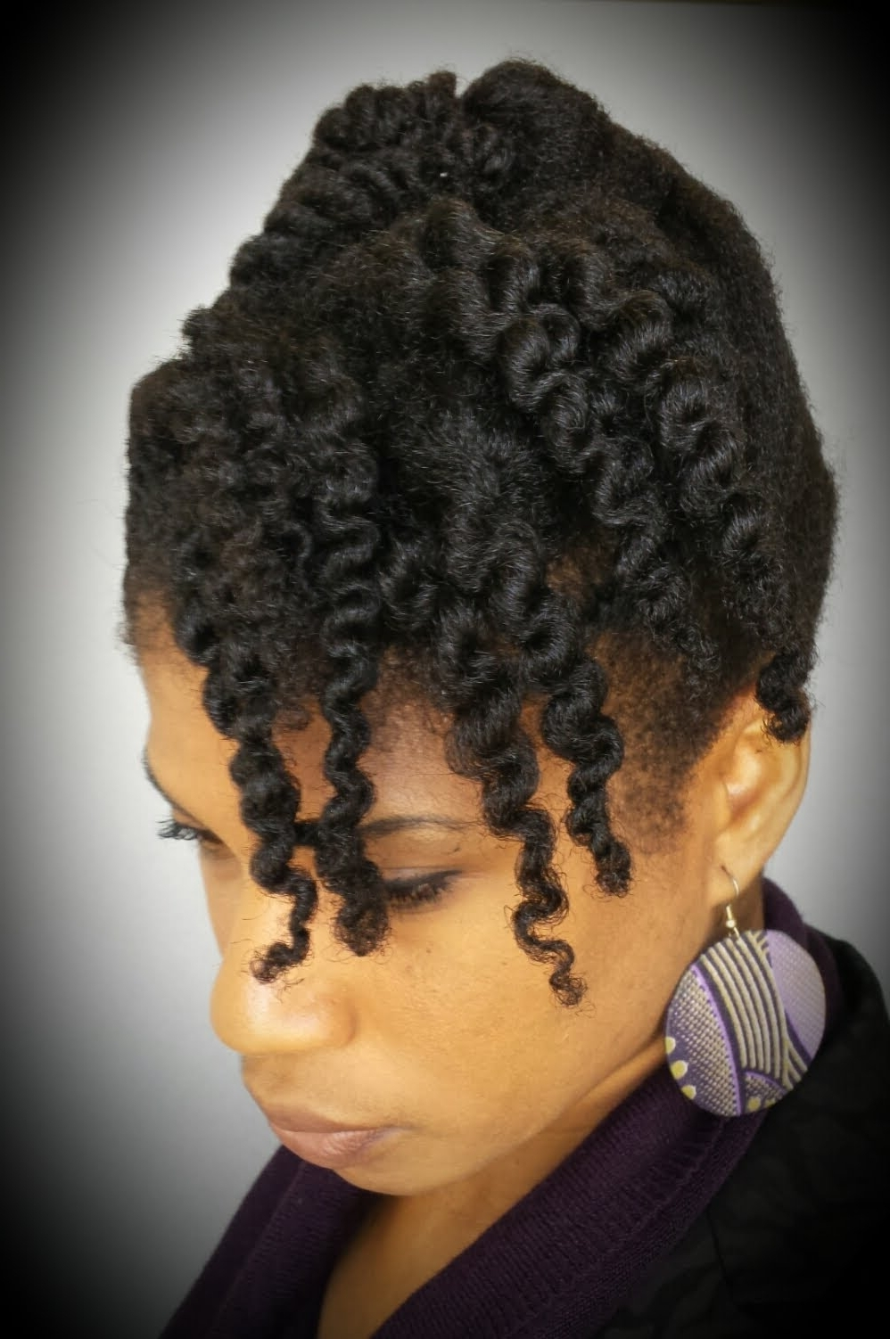 4 Natural Hair 10 Minute Cornrow And Twist Updo (protective Style With African Cornrows Updo Hairstyles (View 12 of 15)