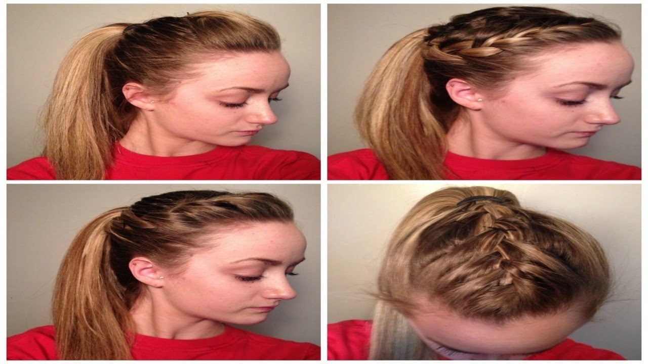 4 Quick/easy + Cute Sporty Hairstyles! ♡ – Youtube Regarding Sporty Updo Hairstyles For Short Hair (View 3 of 15)