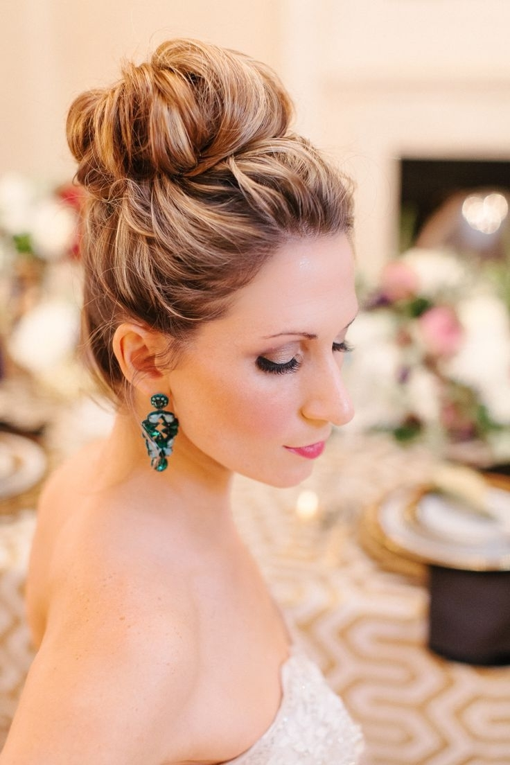 40 Bridesmaid Hairstyles To Look Unforgettable | Updo, Weddings And Regarding Bridal Bun Updo Hairstyles (View 3 of 15)