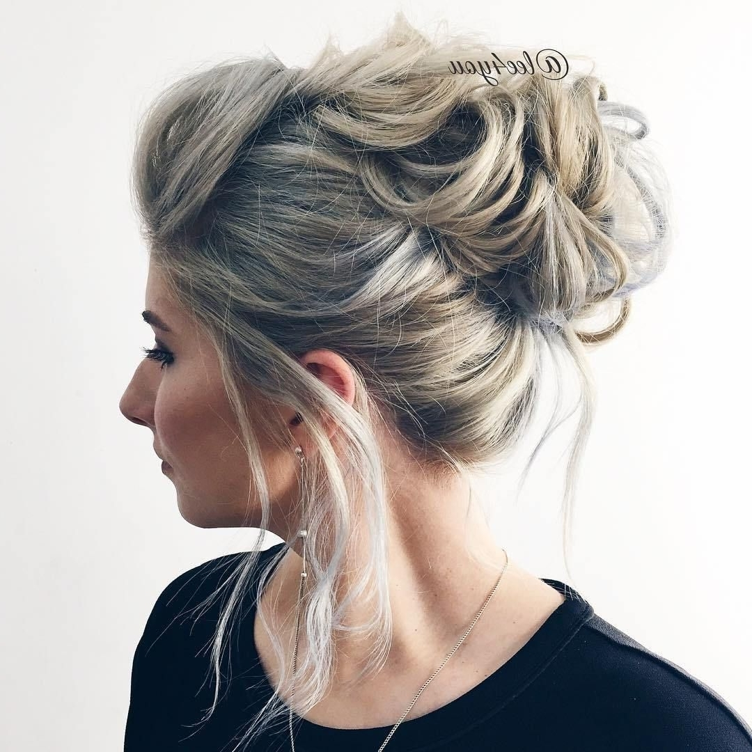40 Picture Perfect Hairstyles For Long Thin Hair | Messy Updo, Updo In Messy Updo Hairstyles For Thin Hair (View 4 of 15)