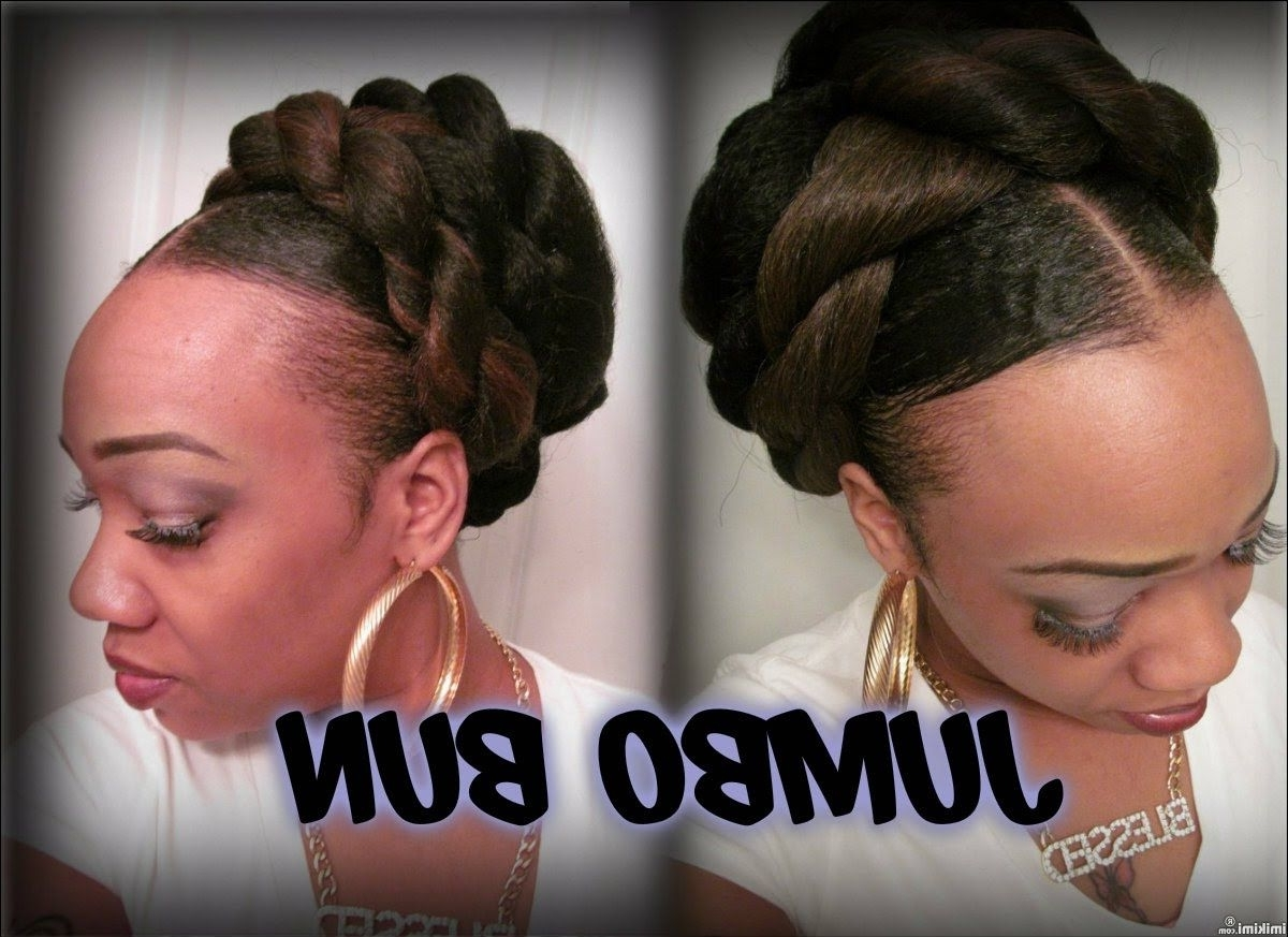 41Inch Jumbo Twist Crochet Hair Extensions (One Tone) | Jumbo Braid Throughout Braided Updo Hairstyles With Extensions (View 2 of 15)