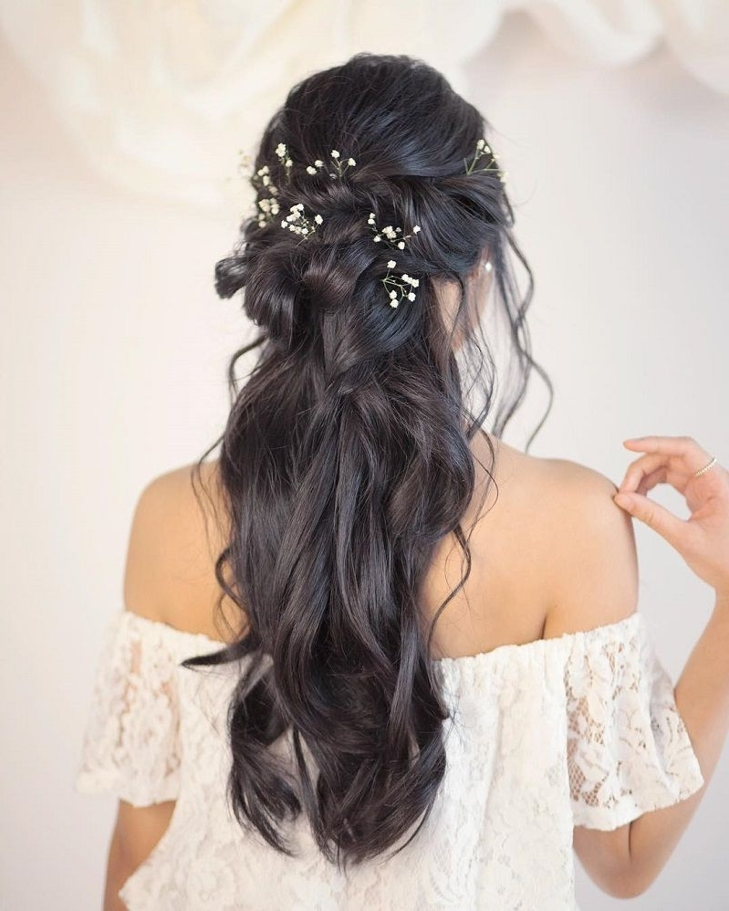44 Gorgeous Half Up Half Down Hairstyles | Partial Updo, Bridal In Partial Updo Hairstyles (View 13 of 15)