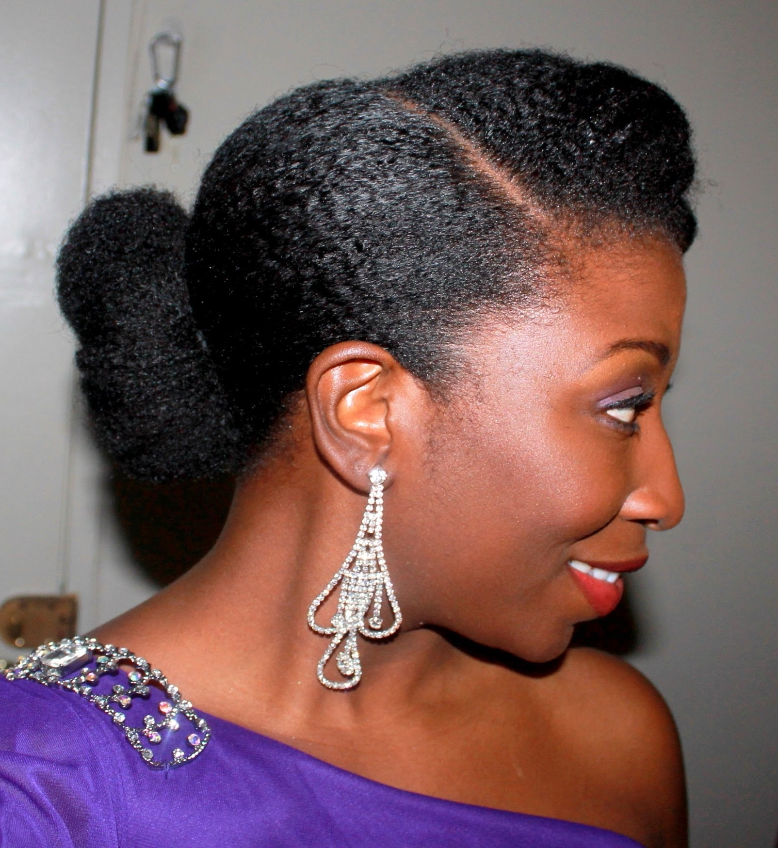 47) Elegant Updo On Stretched Natural Hair – Youtube Intended For Natural Updo Hairstyles (View 3 of 15)