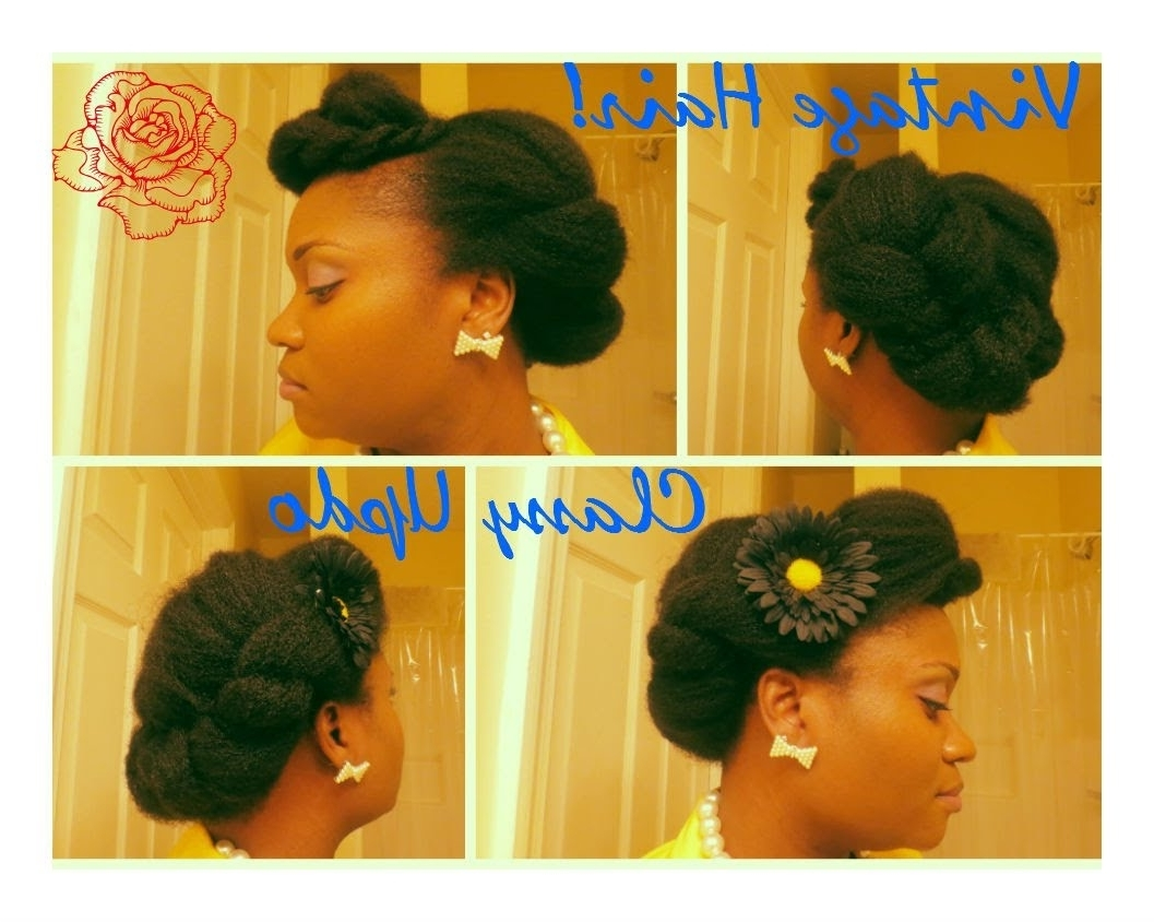 4C Natural Hair: Quick Twist Updo – Youtube With Quick Twist Updo Hairstyles (View 2 of 15)