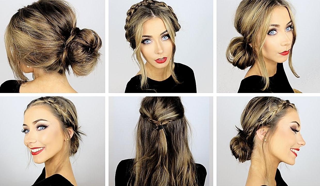 5 Easy Heatless Hairstyles For Work & School ♡ Danielle Mansutti For Quick Easy Short Updo Hairstyles (View 3 of 15)