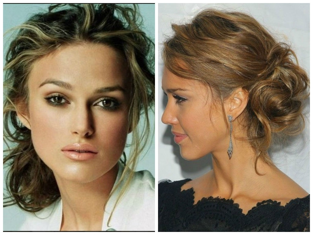5 Messy Updo Hairstyle Idea's For Medium Length Or Long Hair – Hair Throughout Low Bun Updo Wedding Hairstyles (View 2 of 15)