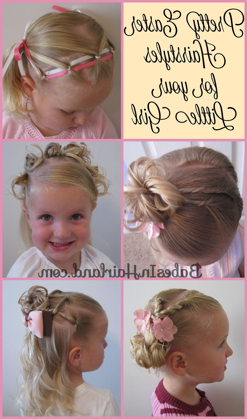 5 Pretty Easter Hairstyles | Easter, Tutorials And Hair Style For Children's Updo Hairstyles (View 2 of 15)