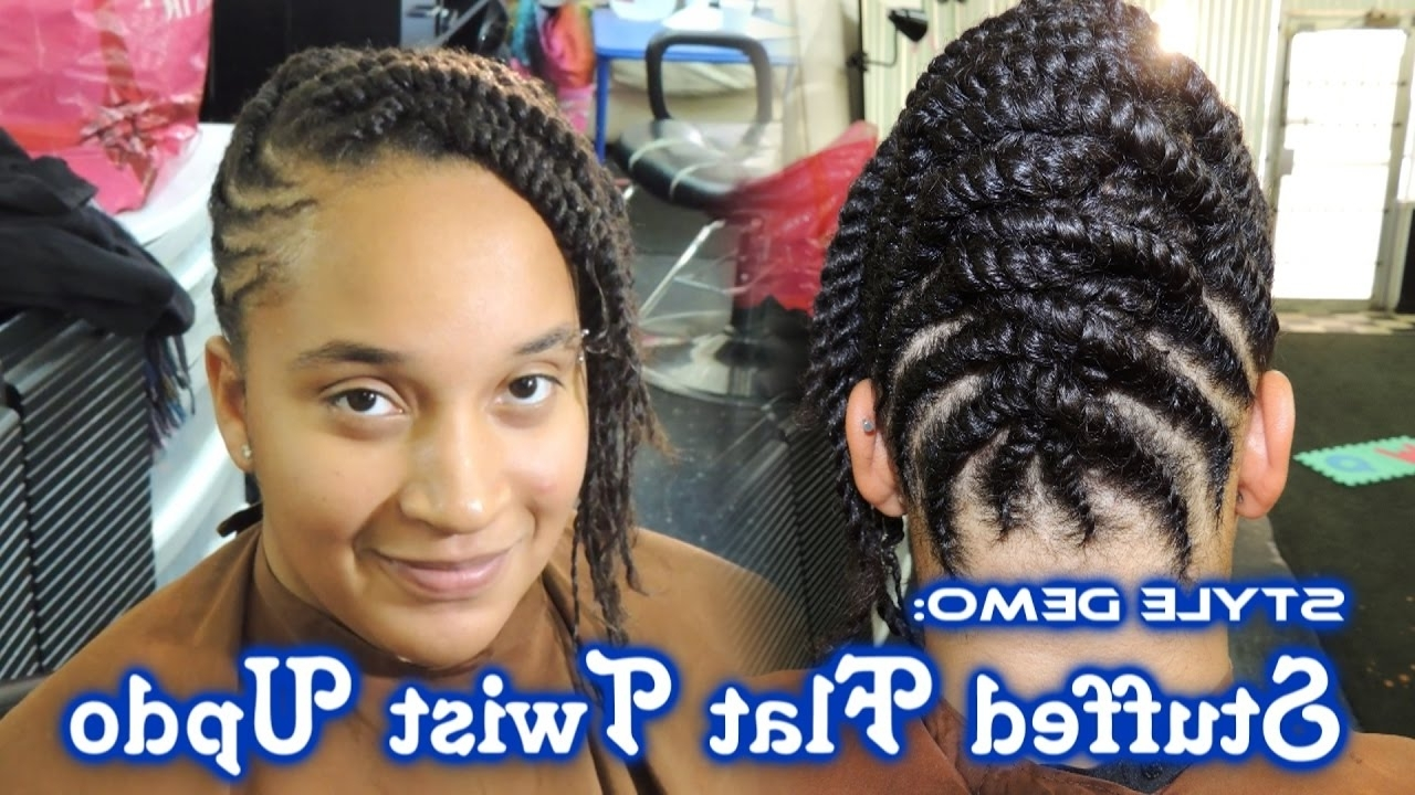 580 – Stuffed Flat Twist Updo Style Demo | Thegriynthumb Salon – Youtube For Stuffed Twist Updo Hairstyles (View 1 of 15)