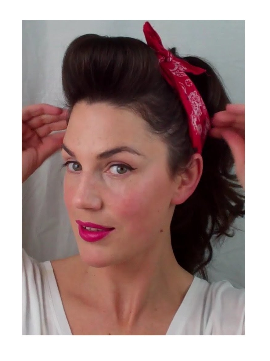 6 Pin Up Looks For Beginners ( Quick And Easy Vintage/ Retro Intended For Easy Vintage Updo Hairstyles (View 10 of 15)