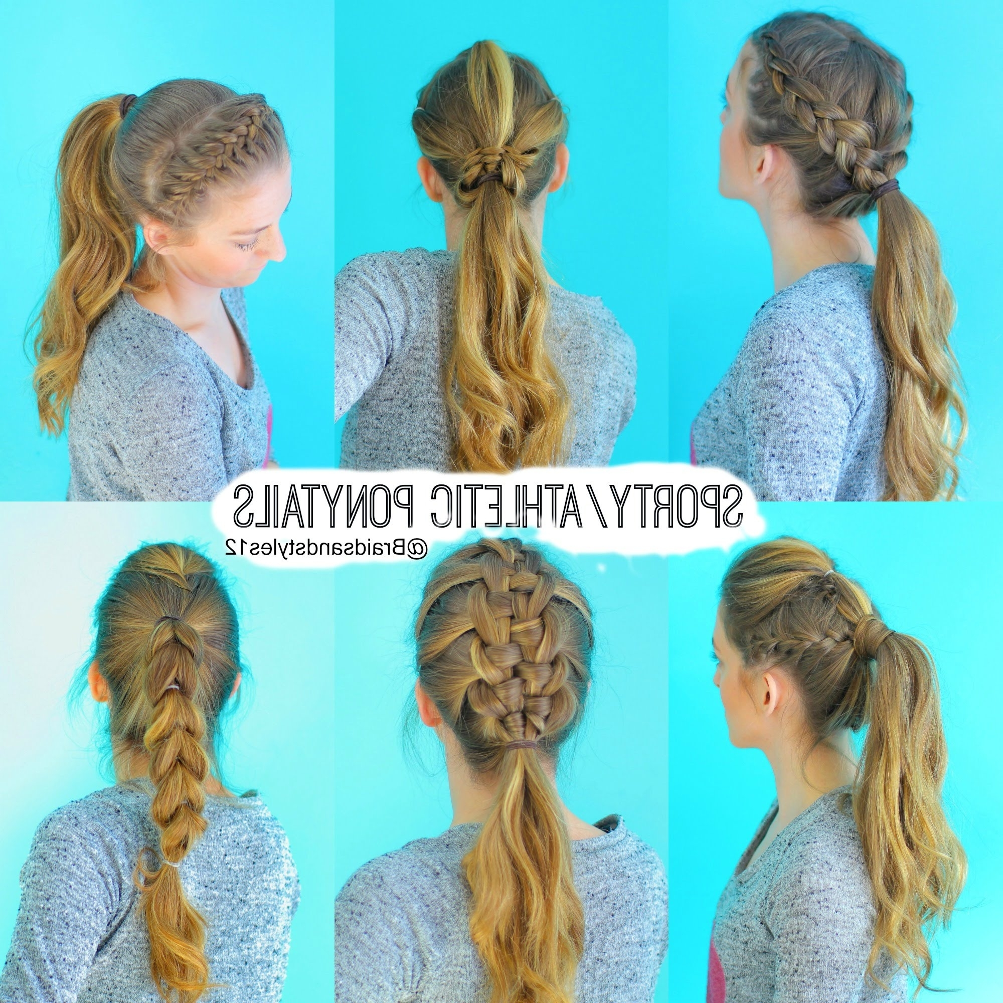 6 Quick And Easy Sporty/athletic/workout Hairstyles In Sporty Updo Hairstyles For Short Hair (View 7 of 15)