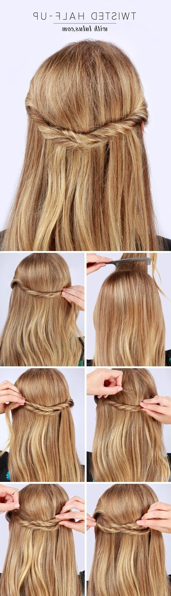 60 Cute Easy Half Up Half Down Hairstyles – For Wedding, Prom, And Inside Straight Half Updo Hairstyles (View 3 of 15)