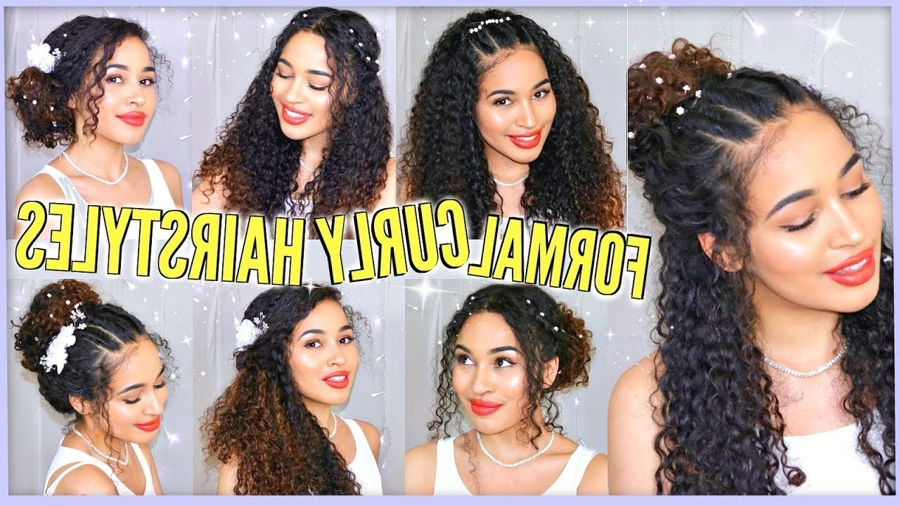 7 Best Curly Hairstyles For Prom, Graduation, Formals & Weddings Throughout Naturally Curly Hair Updo Hairstyles (View 1 of 15)