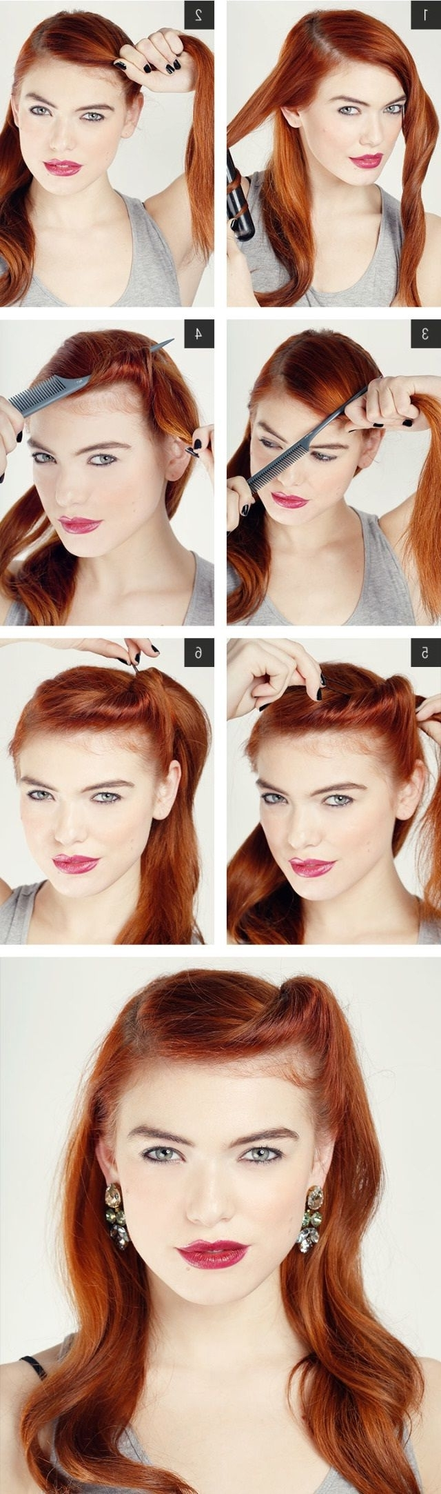 7 Easy Retro Hair Tutorials From Pinterest | Retro Hair, Retro And Inside Easy Vintage Updo Hairstyles (Gallery 7 of 15)