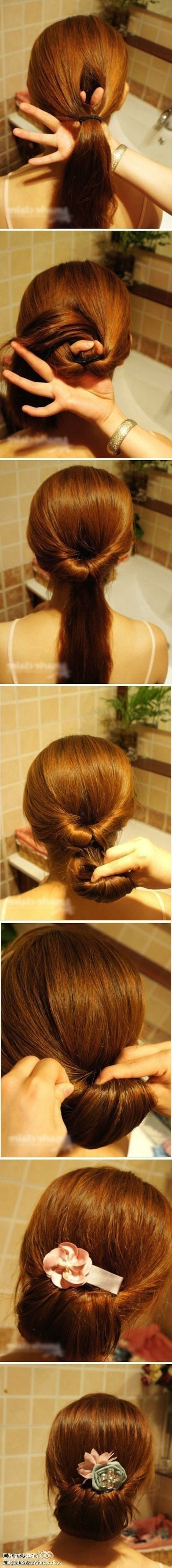 72 Best Haare Images On Pinterest | Hairstyle Ideas, Coiffure Facile Pertaining To Quick Easy Updos For Long Thick Hair (Gallery 7 of 15)