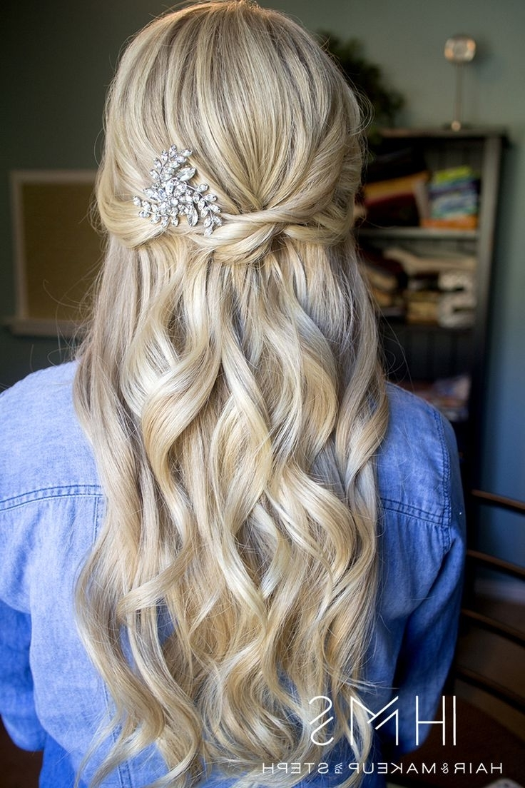 72 Best Wedding Hair: Half Up Images On Pinterest | Hairstyle Ideas With Regard To Wedding Half Updo Hairstyles (View 5 of 15)