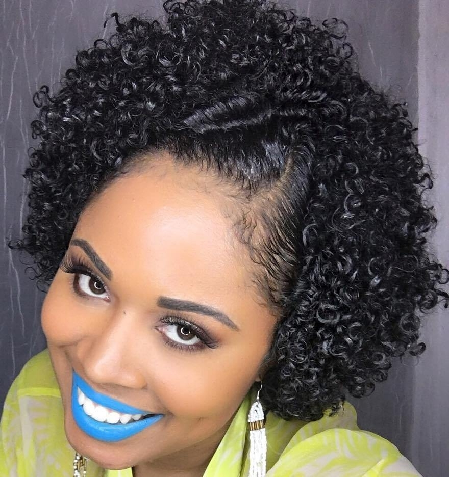 75 Most Inspiring Natural Hairstyles For Short Hair In 2018 Throughout Black Updos For Short Hair (View 4 of 15)