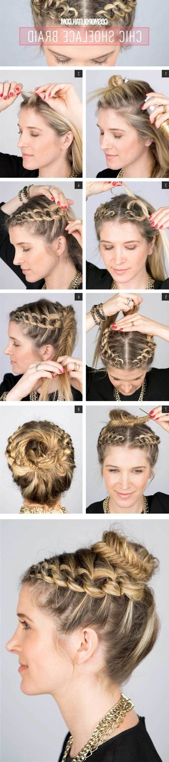 756 Best Beauty Images On Pinterest | Make Up Looks, Hair Dos And With Regard To Easy Updo Hairstyles For Long Thin Hair (Gallery 13 of 15)