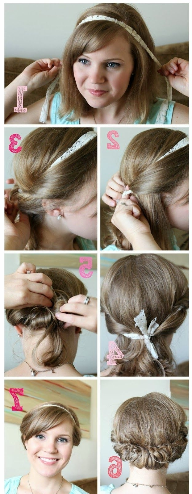 76 Best •• Hair And Beauty •• Images On Pinterest | Coiffure Facile In Super Easy Updos For Short Hair (Gallery 12 of 15)