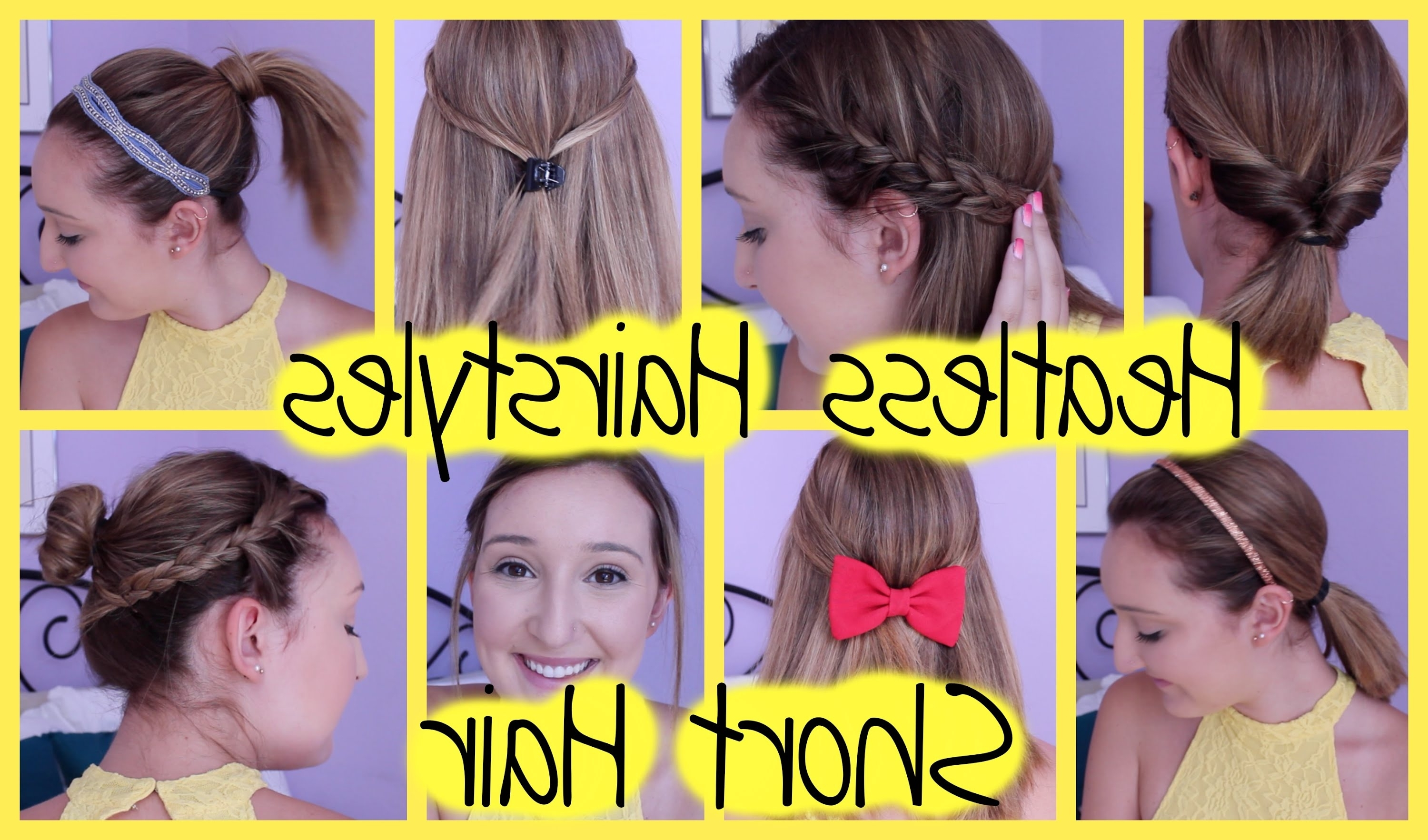 8 Heatless Hairstyles For Short Hair (Easy & Quick For Back To Intended For Quick Easy Short Updo Hairstyles (View 5 of 15)