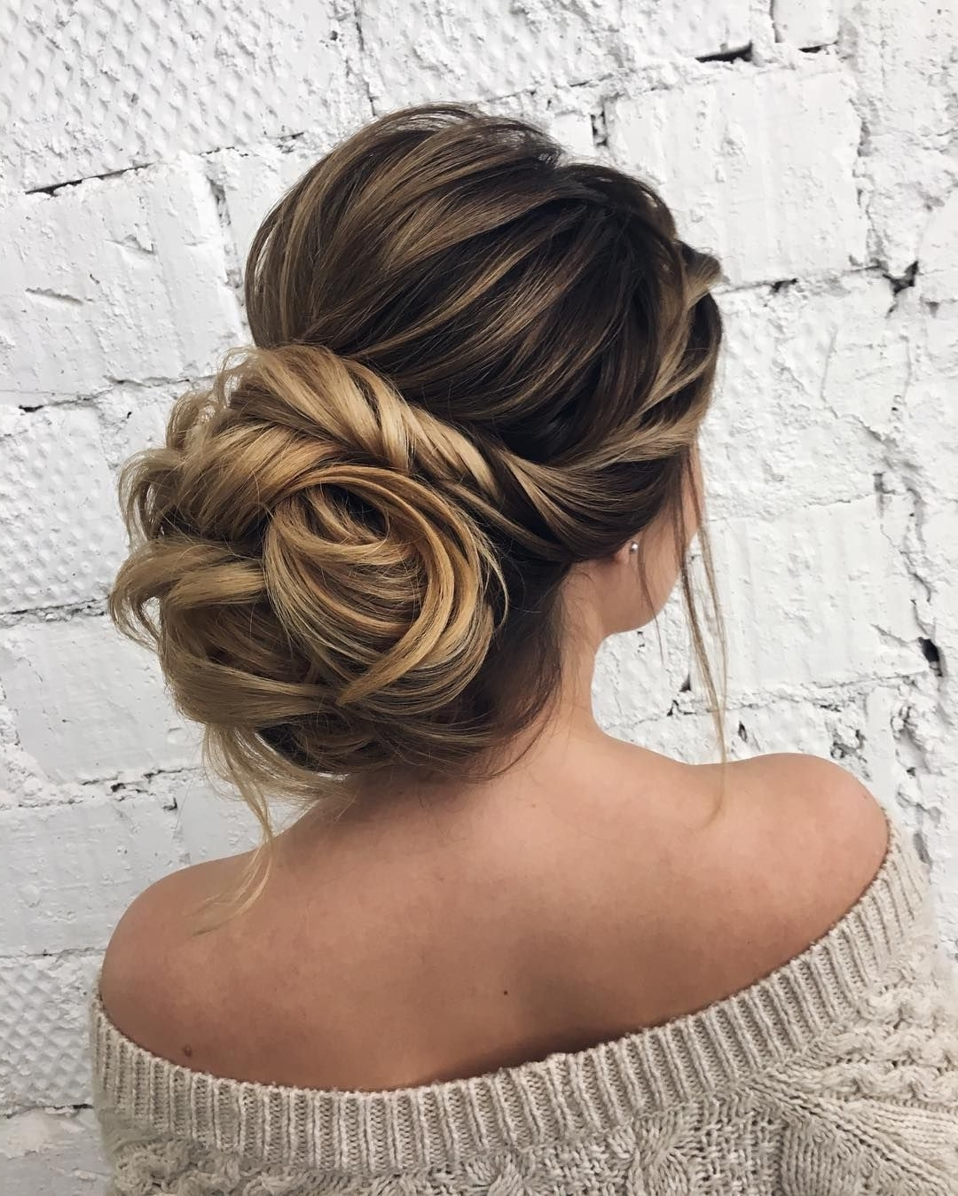 2019 Popular Updo Hairstyles For Strapless Dress