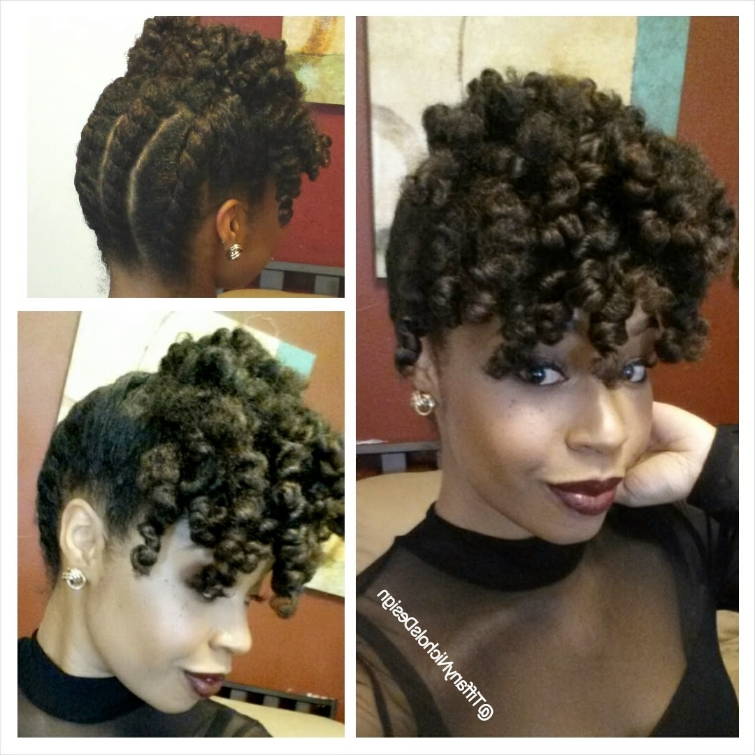A Holiday Updo For Your Natural Hair! | Curlynikki | Natural Hair Care Within Natural Hair Updos For Medium Hair (View 11 of 15)