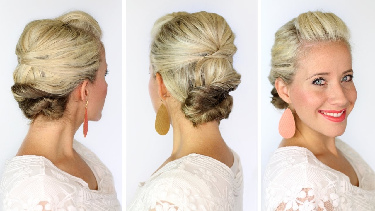 A Soft Updo For Short Hair – Youtube Pertaining To Soft Updos For Short Hair (View 2 of 15)