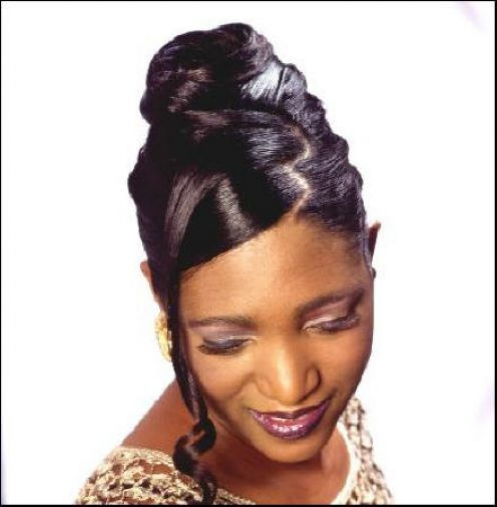 African American Updo Hairstyles With Bangs Black Hairstyles Updos In Updo Hairstyles With Bangs For Black Hair (View 3 of 15)