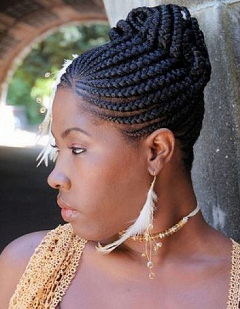 African Braided Updo Hairstyles Black Updo Braided Hairstyles Black Pertaining To African American Updo Braided Hairstyles (View 4 of 15)