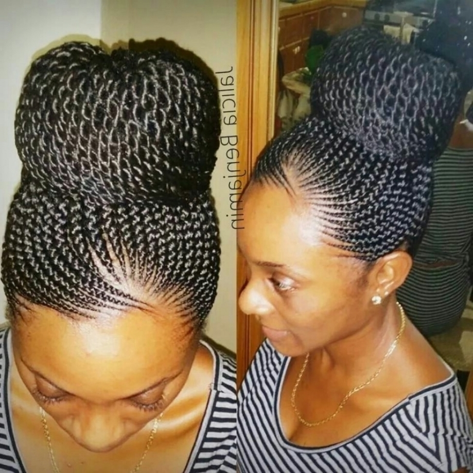 African Braids Updo Hairstyles 1000 Images About Hair On Pinterest In Updo Cornrow Hairstyles (View 2 of 15)