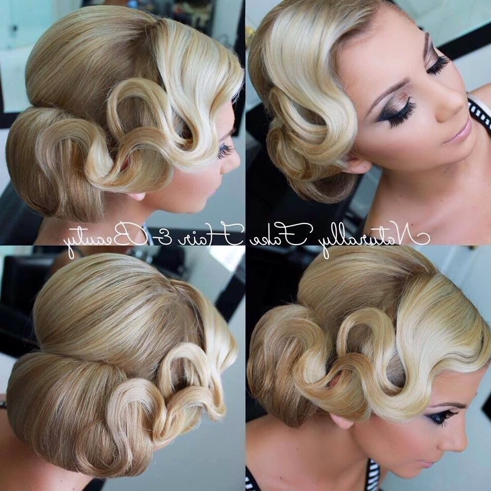 All Back Hairstyle Women | Finger Waves, Finger And Hair Style Regarding Finger Waves Long Hair Updo Hairstyles (View 8 of 15)
