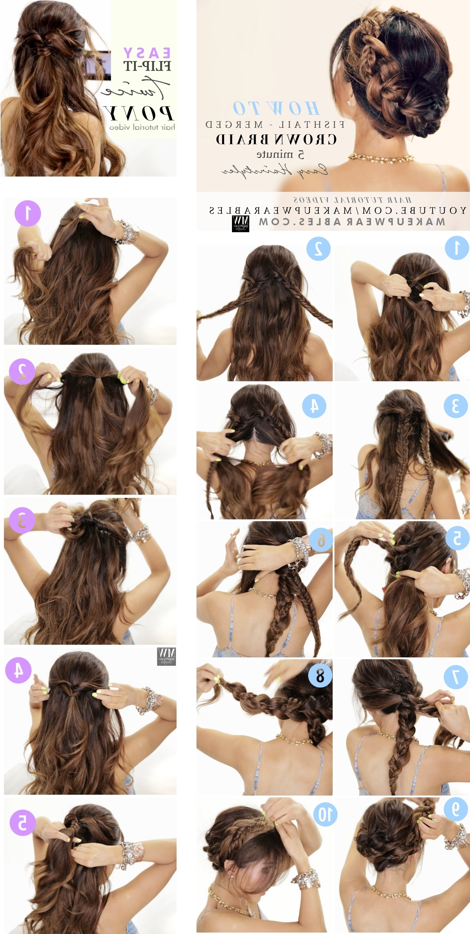 Amazingly Easy Back To School Hairstyles With Merged Braids Throughout Easy Braided Updo Hairstyles (View 9 of 15)