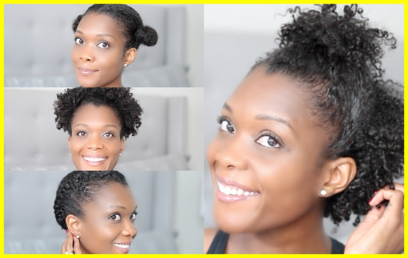 Astonishing Quick U Easy Gym Hairstyles For Short Natural Hair San Pertaining To Quick Updos For Short Black Hair (View 7 of 15)