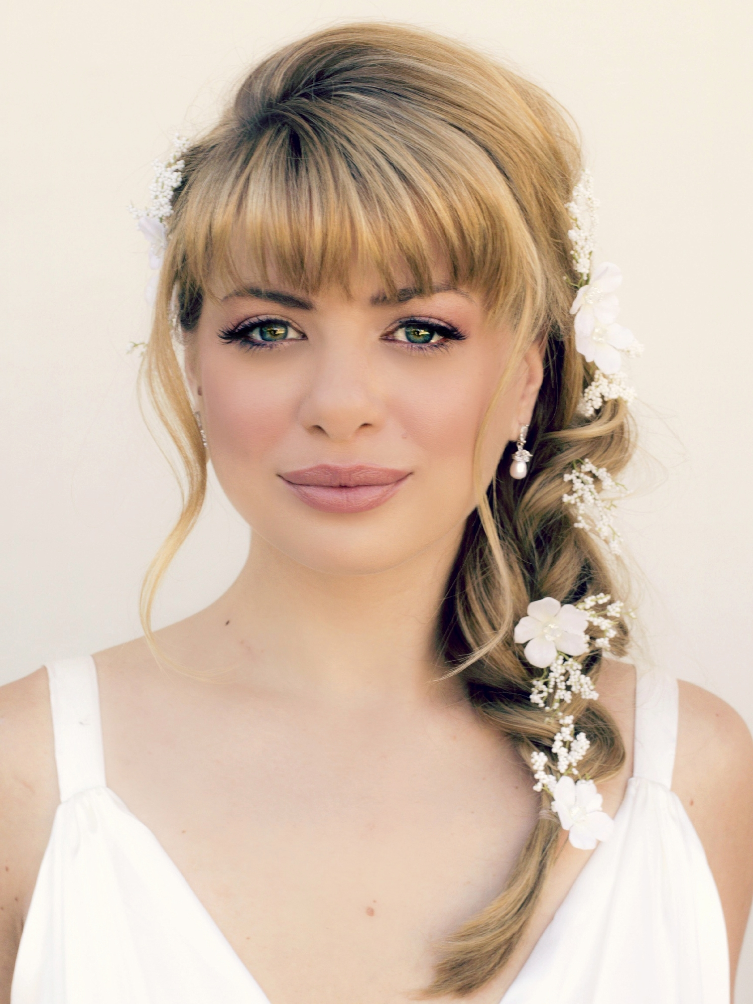 Awesome Cute Hairstyles For Medium Length Hair With Bangs – Hair For Updo Hairstyles With Bangs For Medium Length Hair (View 3 of 15)